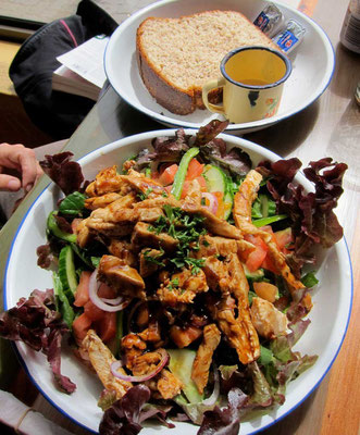 Chicken Stripe Salad Village Cafe Swakopmund