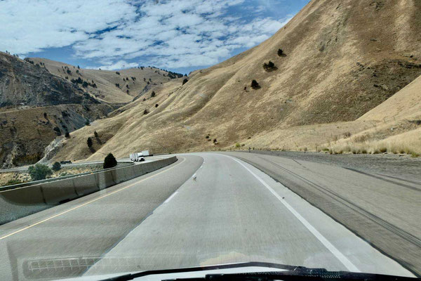 Auf der Interstate-84 von Pendleton - Crater of the Moon