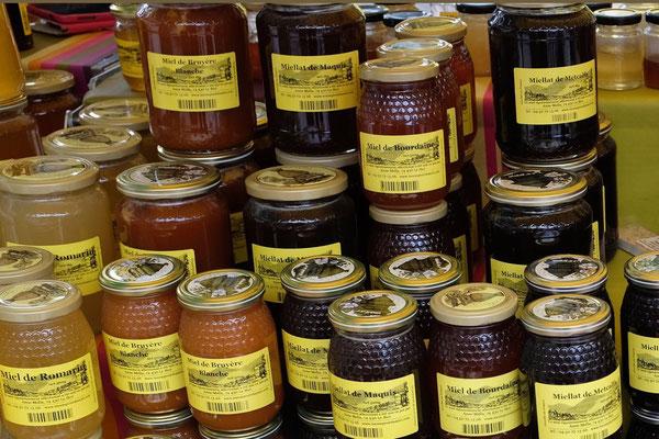 Honig auch alle zum Verkosten, Chamonix Markt