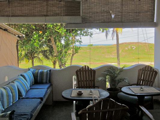 Seagreen Guesthause Galle, Hotel-Loggia Blick über Wallanlage