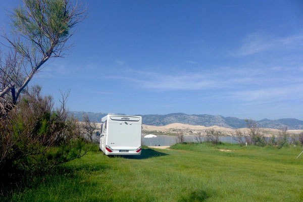 First Row. Campingplatz Camp Sv Duh auf der Insel Pag