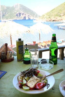 Taverna Akrotiri in Porto Kagio, Mani Peloponnes