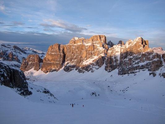 Skipiste am Rifugio Lagazuoi, Dolomiten Südtirol