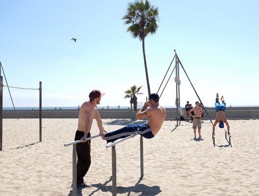 Muscle Beach bei Venice Beach California