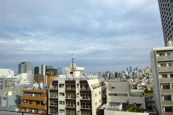 Zimmer Ausblick vom Hotel Citadines Shinjuku Tokyo