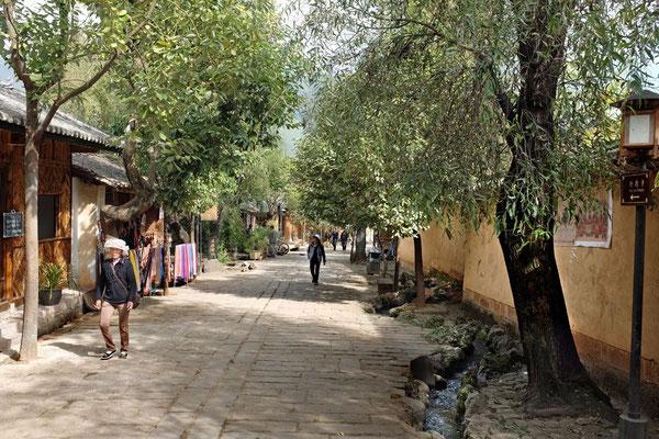 Shaxi Altstadt, Strassen mit Wasserkanälen