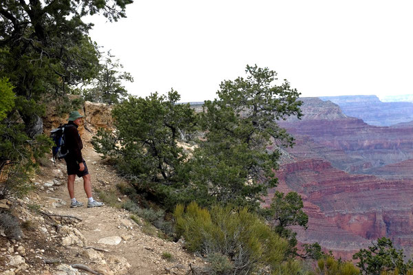 South Rim Trail, am Grand Canyon wandern