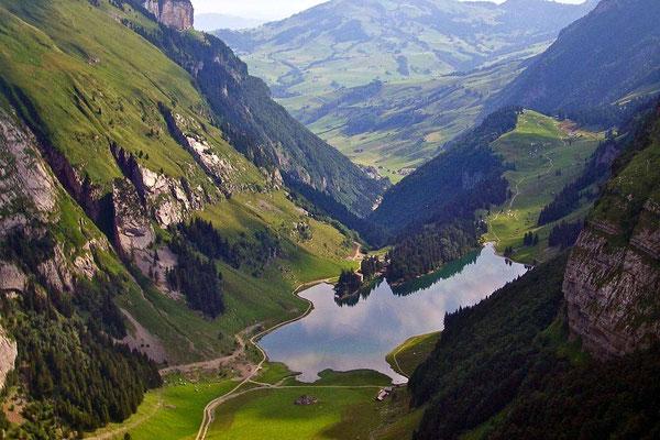 Seealpsee vom Berggasthaus SCHÄFLER, Appenzell