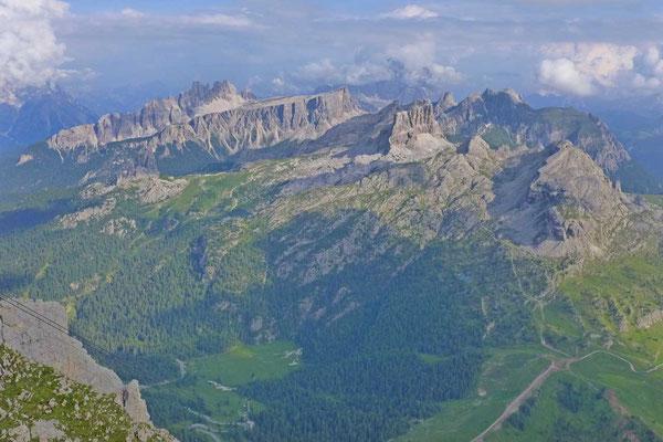 Aussicht Lagazuoi Hütte