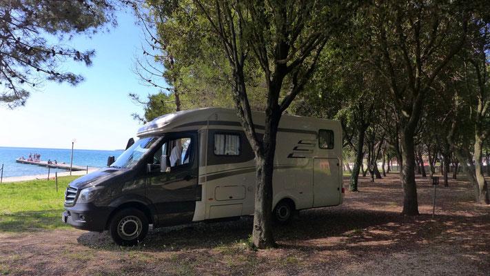 Im Autocamp Borek in Zadar