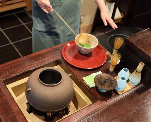Bei Ippodo in Kyoto wird der hochwertigste Matcha Tee verwendet