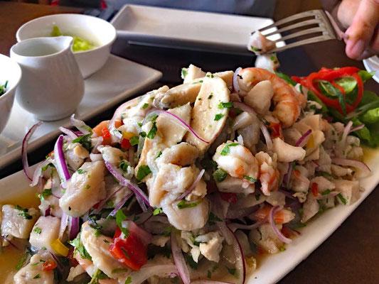 Ceviche  im Mar Adentro Restaurant in Coquimbo