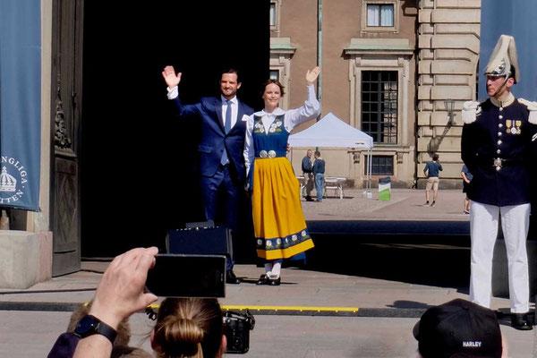 Royals zum Anfassen Schloss Stockholm