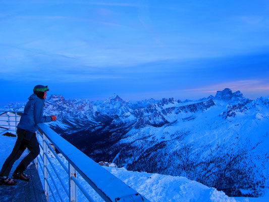 Sonnenuntergang am Rifugio Lagazuoi, Dolomiten Südtirol