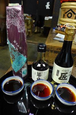 Sojasaucen der Traditionsfirma Kadocho in Yuasa (Wakayama)
