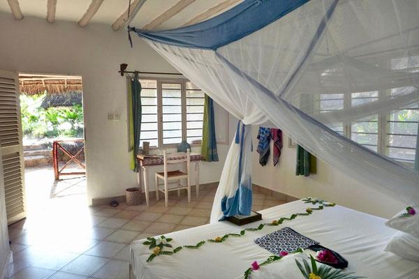 Vom Bett an den Strand, Matemwe Beach Bungalow
