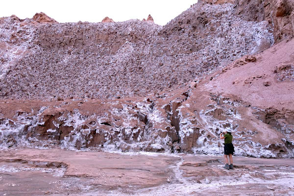 Salz-Canyon Wanderung Valle de la Luna