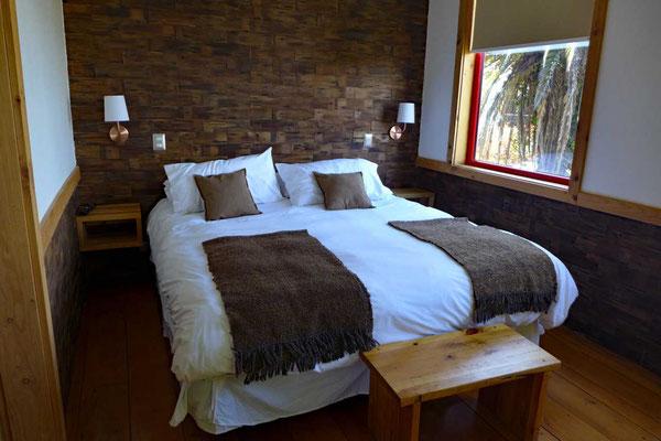 Schlafzimmer im 2. Stock, Cabañas Almabosque