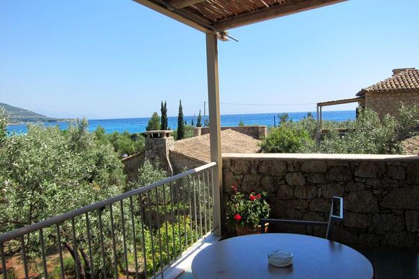 Unser Blick vom Balkon, Hotel Elies, Kardamili, Mani Peloponnes