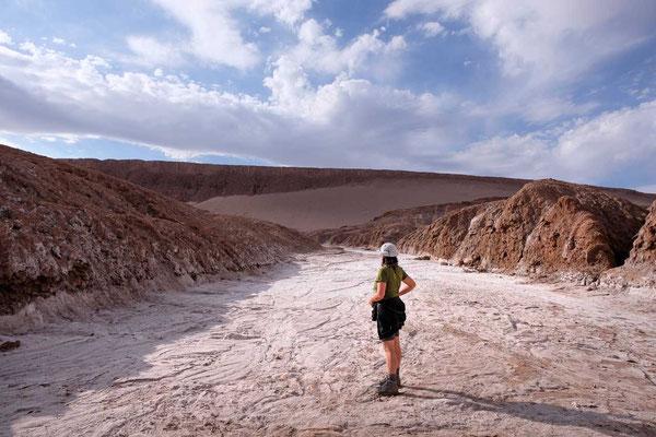 Salzfluss im Valle de la Luna