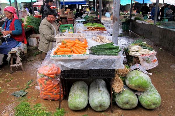 Jeden Vormittag ist Markttag in Xizhou