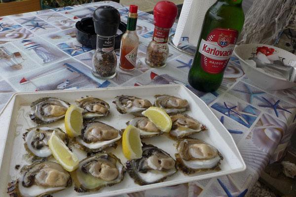 Frisch und günstig, Austern von Ston auf Peljesac