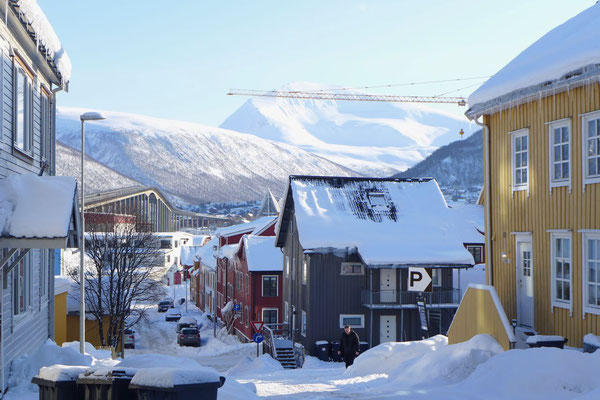 Strassenflucht in Tromsø
