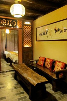Großzügiges Beauty Rose Zimmer, Yangshuo Tea Cozy Hotel