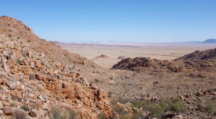 Eagle Trail, oben angekommen (Klein-Aus-Vista, Namibia)