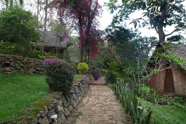 Exotisch grüne Anlage Karama Lodge in Arusha