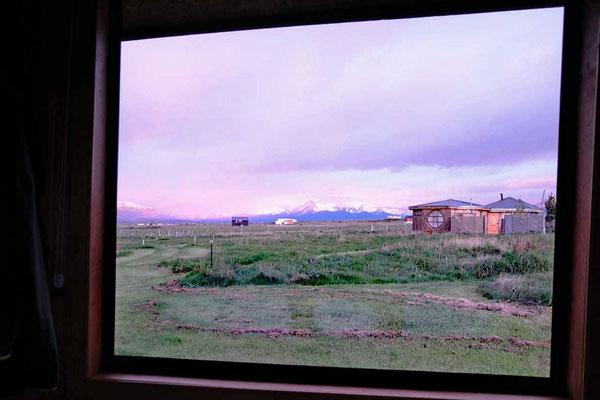 Ausblick Cabañas Kauken, Puerto Natales