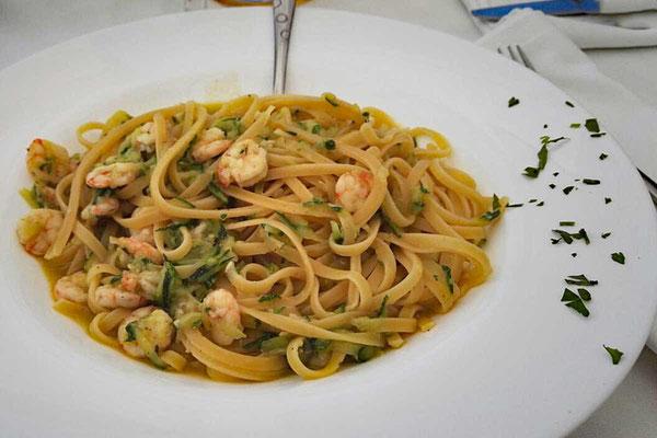 Meeresfrüchte Pasta, Milna Beach Hvar