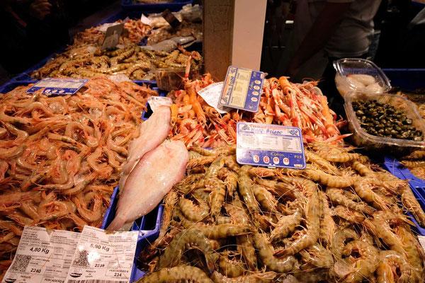 Meeresfrüchte von Sanlúcar de Barrameda