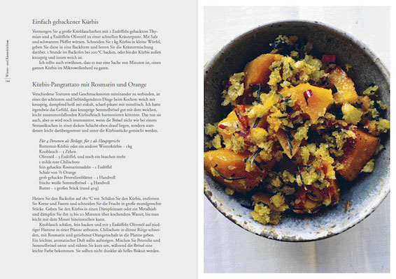 Kürbis-Pangrattato mit Rosmarin und Orange. Kochbuch Nigel Slater Tender