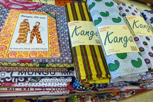 Kangas im Memories of Zanzibar Shop, Stone Town