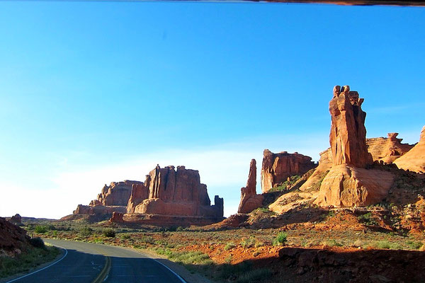 Courthouse Tower, Scenic Road Arches National Park USA Südwesten