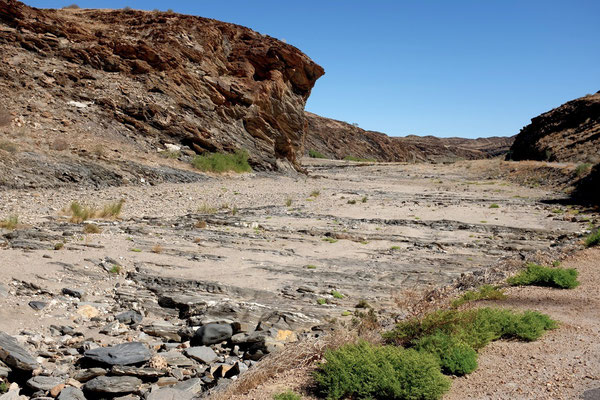Durchs Trockenflussbett Kuiseb-Canyon, Namibia