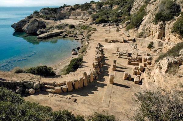 Die Kultstätte der Hera von oben, Peloponnes