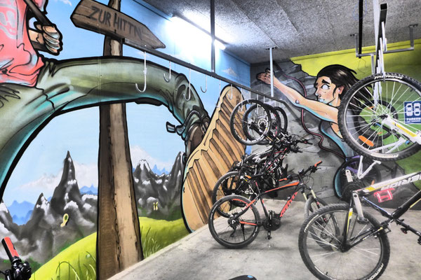 Die Bike-Garage des Salzburger Hof Leogang