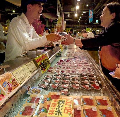 Frische Sushi & Sashimi – Tore-tore Seafood Market Shirahama