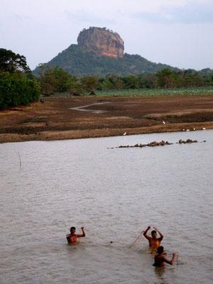 Halmilla Wewa Lake landscape Sigiriya, Sri Lanka