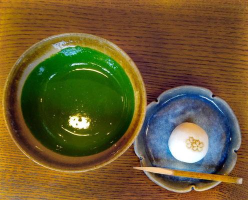 Dickflüssiger Matcha Tee vei Ippodo in Kyoto