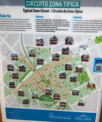 Stadtplan Circuito Zona Tipica Puerto Varas