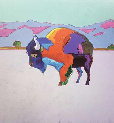 John Nieto|Taos Buffalo Poster