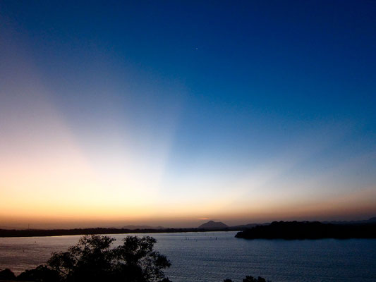 Sonnenuntergang vom HERITANCE KANDALAMA Eco-Hotel Sri Lanka