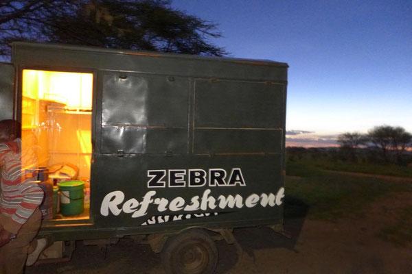 Lieferservice in der Serengeti – kalte Getränke und Lebensmittel