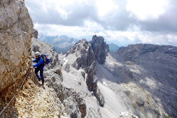 In schwindelnden Höhen - Klettersteig Alta Via Veronesi