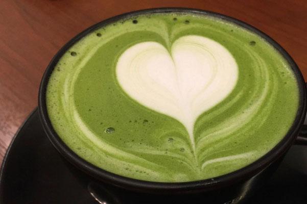 Matcha Cappuccino, Kyoto ist die Stadt des grünen Tees