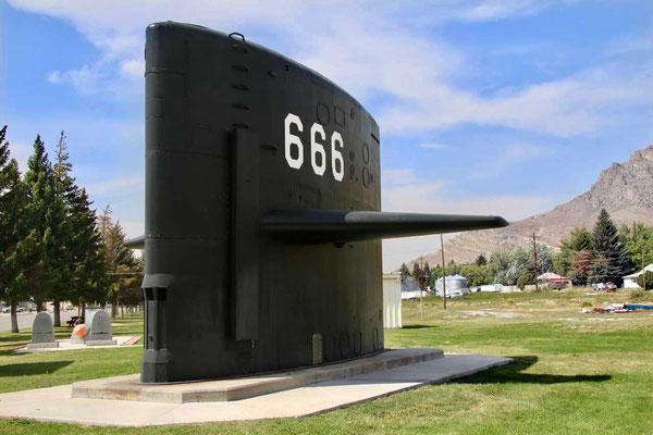 """Überrest vom """"Teufelboot"""" U-Boot, Arco Idaho"""