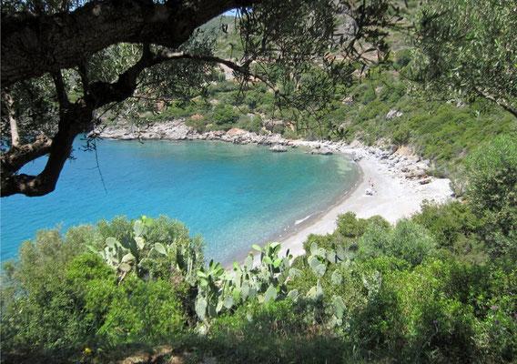 Versteckte Badebucht nördlich von Stoupa, Peloponnes